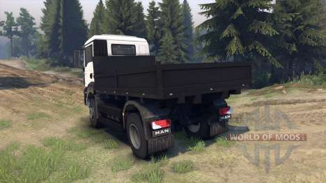 MAN TGS Little Flatbed для Spin Tires