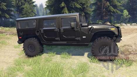 Hummer H1 black для Spin Tires