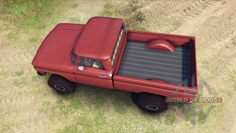 Chevrolet С-10 1966 Custom aztec bronze для Spin Tires