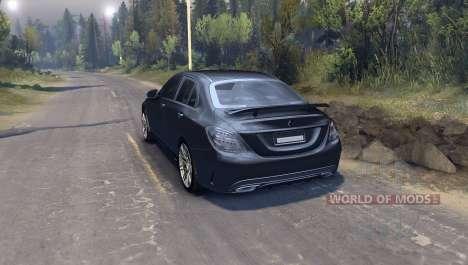 Mercedes Benz C250 Brabus для Spin Tires