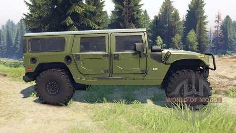 Hummer H1 green для Spin Tires