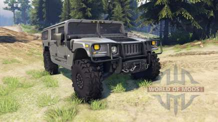 Hummer H1 army grey для Spin Tires