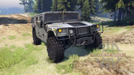 Hummer H1 gray для Spin Tires