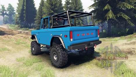 Ford Bronco 1966 [blue] для Spin Tires