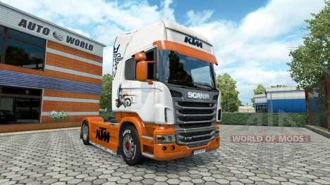 Скин KTM на тягач Scania для Euro Truck Simulator 2