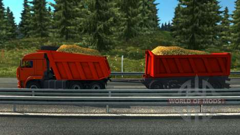 Камаз тандем для Euro Truck Simulator 2