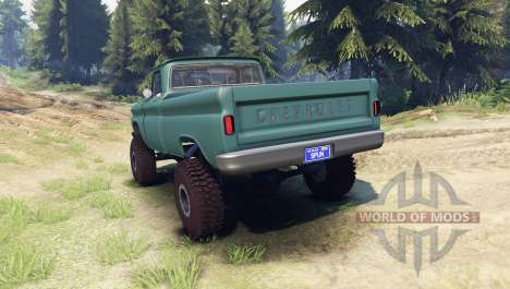 Chevrolet С-10 1966 Custom tropic turquoise для Spin Tires