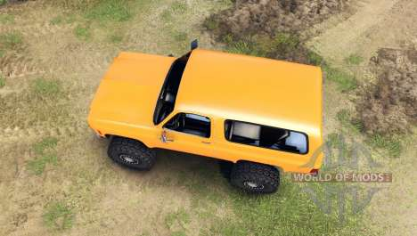 Chevrolet K5 Blazer 1975 [final] [orange] для Spin Tires