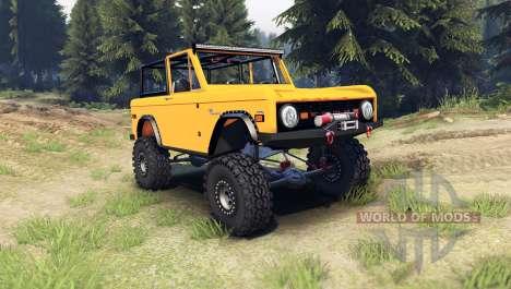Ford Bronco 1966 [orange] для Spin Tires