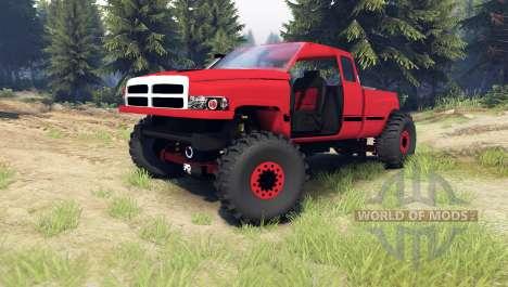 Dodge Ram 1500 [chopped] для Spin Tires