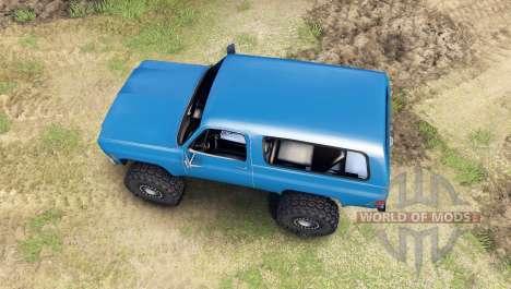 Chevrolet K5 Blazer 1975 [final] [blue] для Spin Tires
