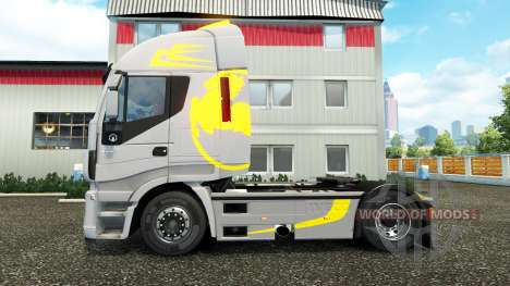 Скин Hi-Way Yellow Grey на тягач Iveco для Euro Truck Simulator 2