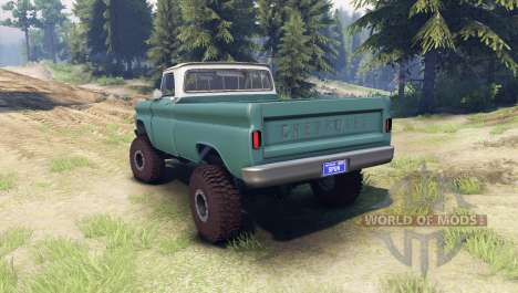 Chevrolet С-10 1966 Custom two tone tropic для Spin Tires