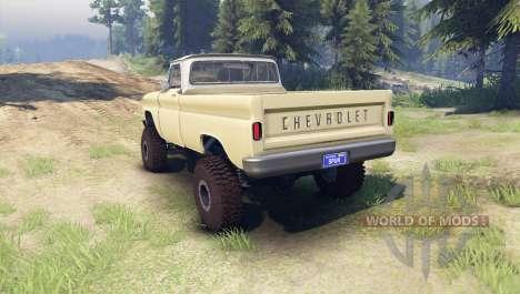 Chevrolet С-10 1966 Custom two tone sandalwood для Spin Tires