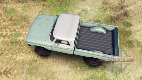 Chevrolet С-10 1966 Custom two tone willow green для Spin Tires
