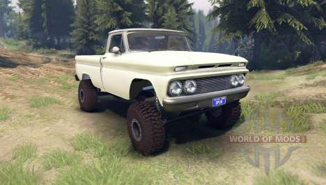 Chevrolet С-10 1966 Custom two tone chat slate для Spin Tires