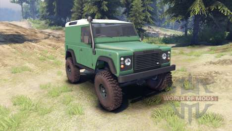 Land Rover Defender 90 [hard top] для Spin Tires