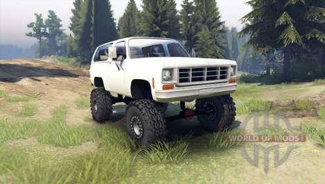 Chevrolet K5 Blazer 1975 [final] [white] для Spin Tires