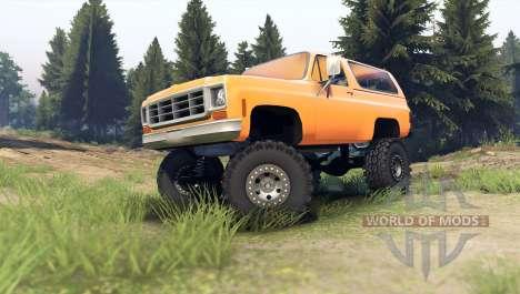 Chevrolet K5 Blazer 1975 [final] [orange] для Spin Tires