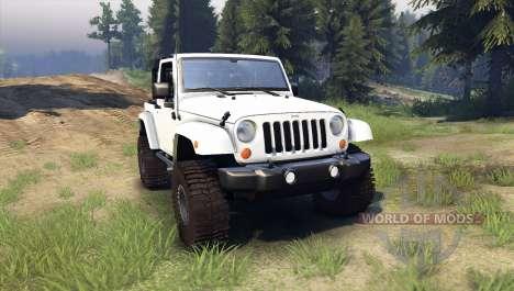 Jeep Wrangler white для Spin Tires