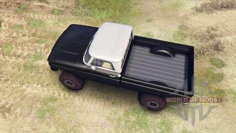 Chevrolet С-10 1966 Custom two tone tuxedo black для Spin Tires