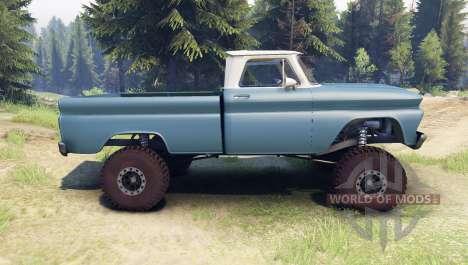 Chevrolet С-10 1966 Custom two tone marina blue для Spin Tires