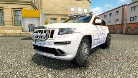 Jeep Grand Cherokee SRT8 v1.2 для Euro Truck Simulator 2