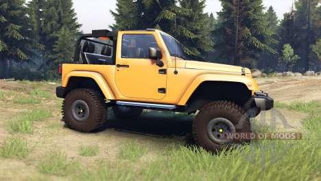 Jeep Wrangler orange для Spin Tires