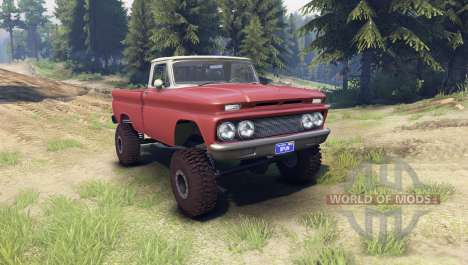 Chevrolet С-10 1966 Custom two tone aztec bronze для Spin Tires