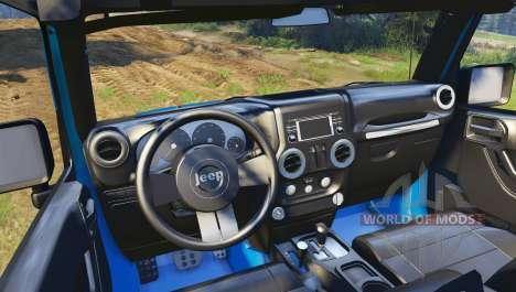 Jeep Wrangler blue для Spin Tires