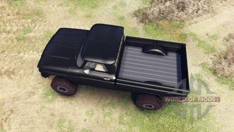 Chevrolet С-10 1966 Custom tuxedo black для Spin Tires