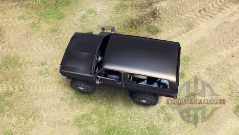Chevrolet K5 Blazer 1975 [final] [black] для Spin Tires