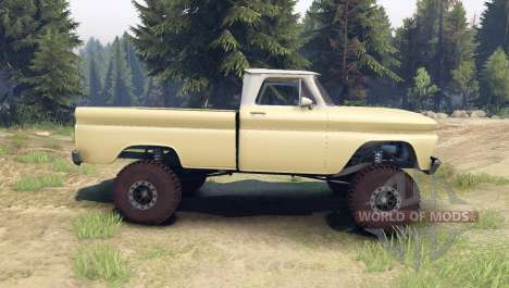 Chevrolet С-10 1966 Custom two tone sandalwood для Spin Tires