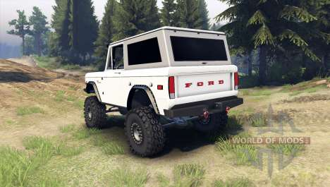 Ford Bronco 1966 [white] для Spin Tires