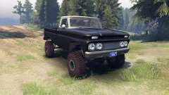 Chevrolet С-10 1966 Custom two tone tuxedo black