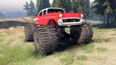 Chevrolet Bel Air 1955 Monster red