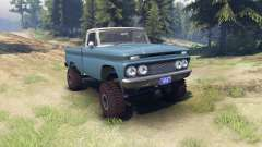 Chevrolet С-10 1966 Custom two tone marina blue