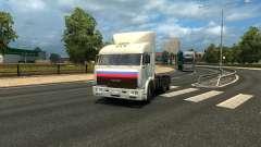 """КамАЗ 54115 из сериала """"Дальнобойщики"""" для Euro Truck Simulator 2"""