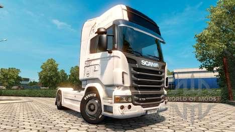 Скин Vabis Trans Group на тягач Scania для Euro Truck Simulator 2