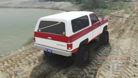 Chevrolet K5 Blazer 1975 [red and white] для Spin Tires