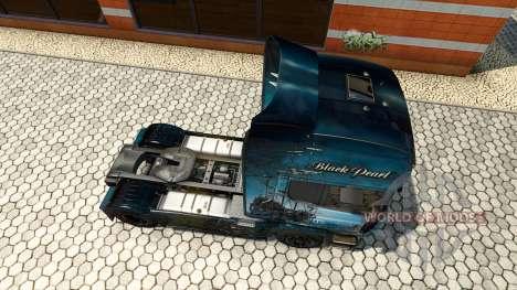 Скин Black Pearl на тягач Scania для Euro Truck Simulator 2