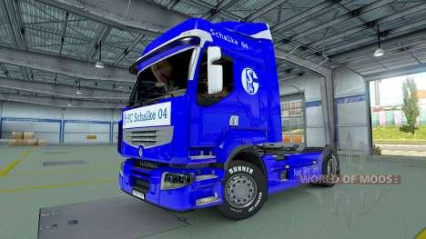 Скин Schalke 04 на тягач Renault для Euro Truck Simulator 2