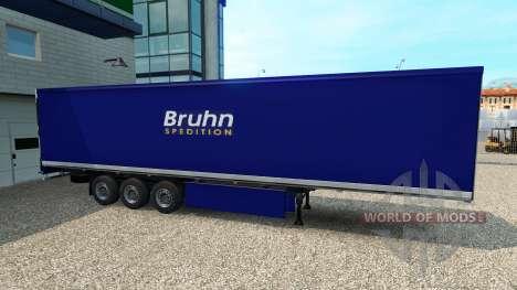 Скин Bruhn на полуприцеп для Euro Truck Simulator 2