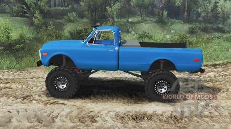 Chevrolet C10 Cheyenne 1972 [blue] для Spin Tires