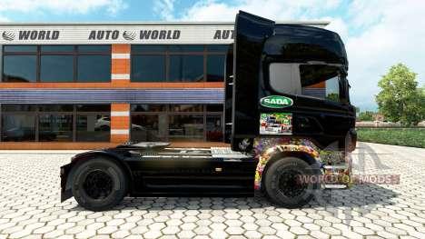 Скин Sticker Bombs на тягач Scania для Euro Truck Simulator 2