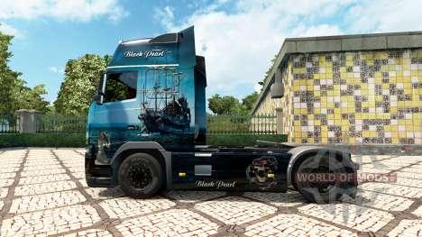 Скин Black Pearl на тягач Volvo для Euro Truck Simulator 2