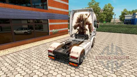 Скин Assassins Creed на тягач Scania для Euro Truck Simulator 2