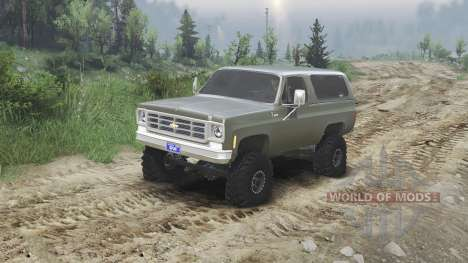 Chevrolet K5 Blazer 1975 [army green] [23.10.15] для Spin Tires