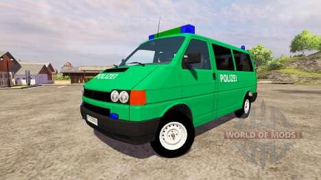 Volkswagen Transporter T4 Police для Farming Simulator 2013