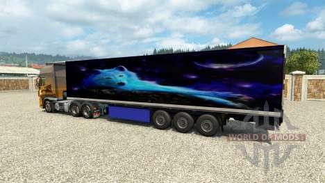 Скин Wolf на полуприцеп для Euro Truck Simulator 2